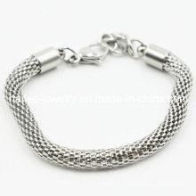 Jóias de aço inoxidável moda pulseira para homem