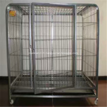 Cage pour chien en acier inoxydable