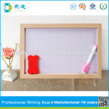 kids small magnetic whiteboard with wooden frame