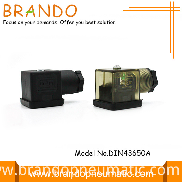 43650a black connector for solenoid coil