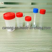 Vaso desechable de muestras de muestras de orina estériles de plástico