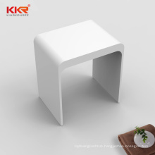 European U shape White artificial stone solid surface shower stool for bathroom