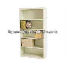 Four Shelves Big White MDF Storage Cabinet