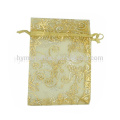 2016 organza bags for gift sheer organza pouch with tassle