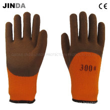 Terry Yarn Liner Latex Foam Coated Industrial Labor Work Gloves (LH801)