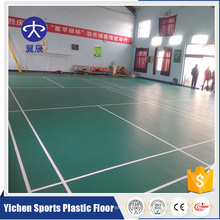 Indoor Plastic Sports Court Floor badminton court flooring