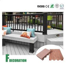 Decking extérieur en composite plastique bois WPC