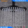 10′′ Round Black Ss304 Ceiling Wall Hanger Rainfall Top Shower