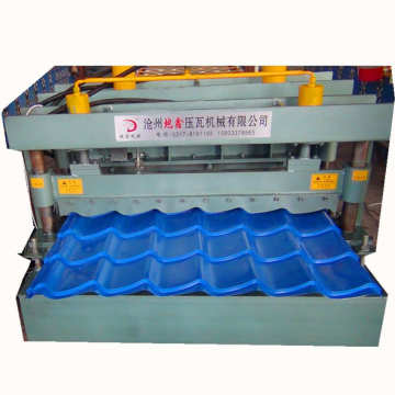 Roller Arc Glazed Tile Roll Forming Machine Building
