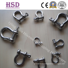 Stainless Steel Shackle, Bow Shackle, D Shackle, Us Type Forged Bow Shackle