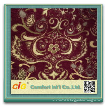 Jacquard Polyester Canapé Tissu rideau de chenille