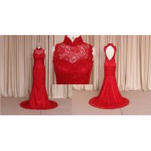 Vintage Royal Train dernières conceptions de robes de mariage rouge