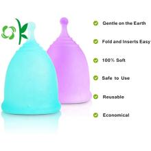 Copas menstruales de silicona reutilizables para mujer ecológica