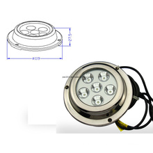 6X3w DC8-28V White LED Surface Mount Marine Light