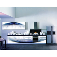 Armário de cozinha de vidro 3D mais barato