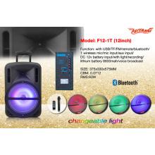 "Plastic Shell 12 ""altavoz de carretilla portátil con USB SD FM Bluetooth F12-1"