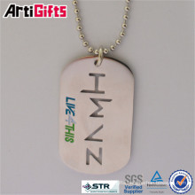 Good quality metal football dog tag with printing