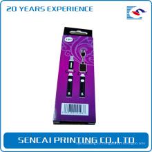 Изготовленный на заказ Розничный фиолетовый электронные продукты микро-USB установка упаковочной коробки