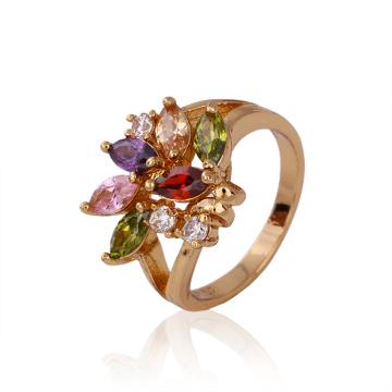 2016 joyería del anillo del diseño de la manera de la Navidad con CZ