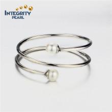 10.5-11mm AAA Perle ronde en argent sterling avec bracelet en perle pour femmes