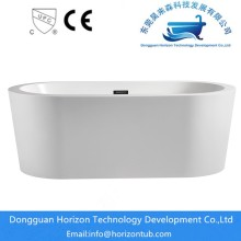 Broadside stand alone bath tub