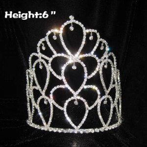 6in Wholesale Crystal Rhinestone Pageant Crowns