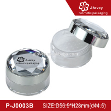 Empty loose powder container with brush