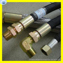 Hydraulic Hose with Fitting on End Customized Hose Assembly