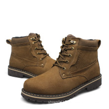 men's hot selling leather fashion winter cheap men boots
