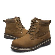 Homens quentes venda de couro moda inverno botas baratas homens