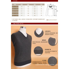 Bn1505 Yak Wool/Cashmere V Neck Pullover Long Sleeve Sweater/Clothes/Garment/Knitwear