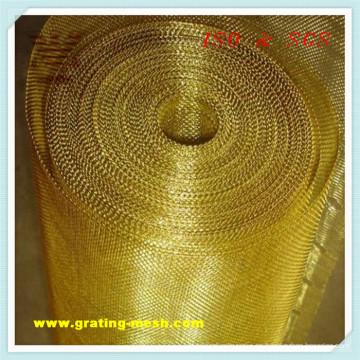 Metal del oro / aprobación de la malla de alambre decorativa ISO