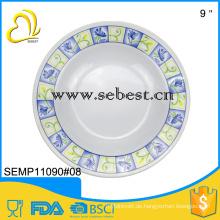 Melamin Suppenteller, Standardgröße Melaminplatte