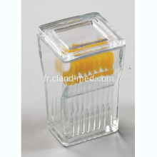 9PCS Glass Slide Coloration Jar avec des couvercles en verre