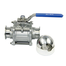 Válvula de bola de 3PC sin retención de acero inoxidable