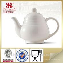 Articles de thé Grace, pot de thé en céramique blanche