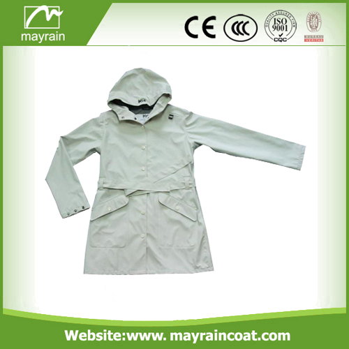 Ladies' PU Windbreaker