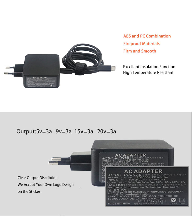 3.1 type-c charger power adapter