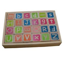 Дошкольная игрушка Деревянный шелковый экран Алфавит блоки для детей