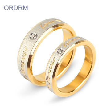 Custom Zirconia Forever Love Promise Ring Set