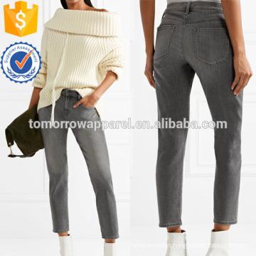 Sadey Cropped Slim Boyfrien Jeans Manufacture Wholesale Fashion Women Apparel (TA3061P)