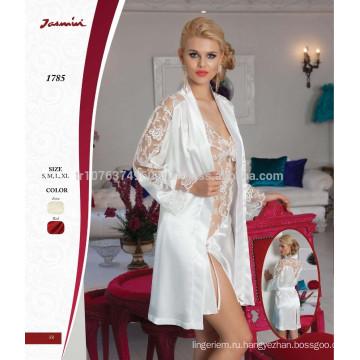 Кружева ночная сорочка жасмин и одеяние невесты набор