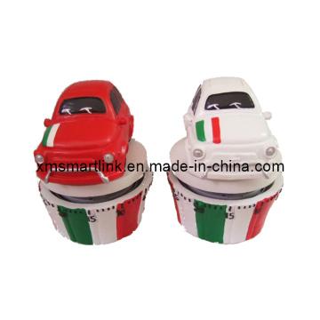 60min Polyresin Escultura Itália Decoração de carro Temporizador de cozinha mecânica