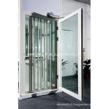 Porte pliante en verre alliage en alliage d'aluminium