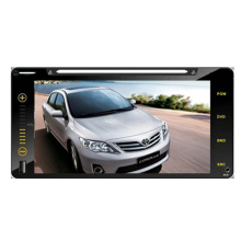 "2DIN Car DVD-Player Fit für Toyota Corolla Universal Touchscreen 6,95"" RAV4 Hilux 200 * 100cm mit Radio Bluetooth-Stereo-TV-GPS-Navigationssystem"