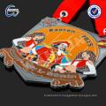 Médaille allemande émaillée à chaud avec cordon