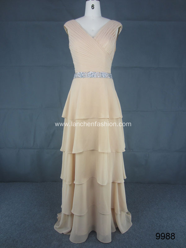 Sleeveless Grecian Style Prom Dress