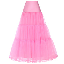 Grace Karin Women's Retro Crinoline Pink Underskirt Petticoat for Vintage Dress CL010421-5