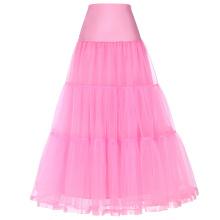 Грейс Карин Женская Ретро розовый Кринолин юбки underskirt для старинные платья CL010421-5