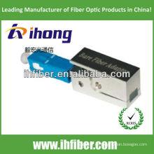Sc / pc adaptador de fibra desnuda tipo cuadrado con carcasa metálica